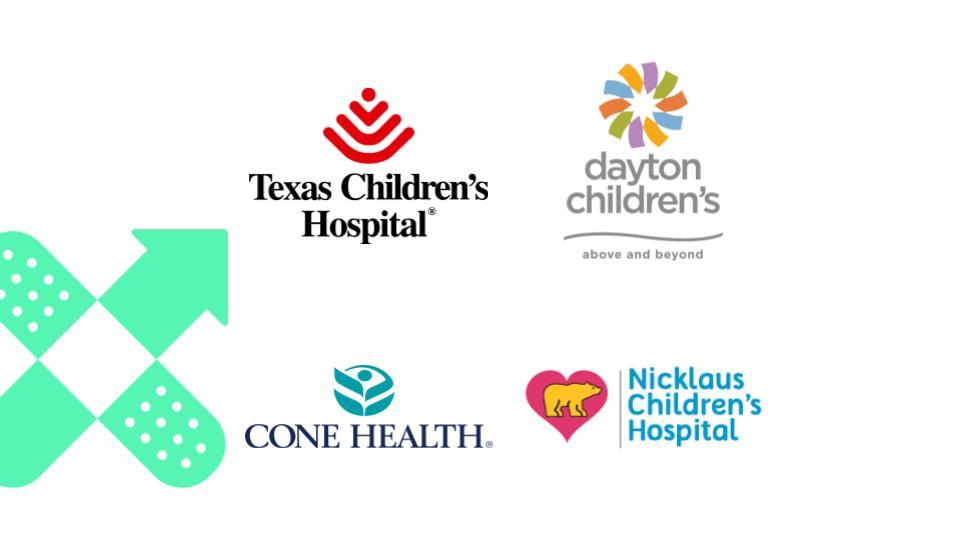 Texas Children's Hospital - Dayton Children's - Above and beyond - Cone Health - Nicklaus Children's Hospital - composite logo