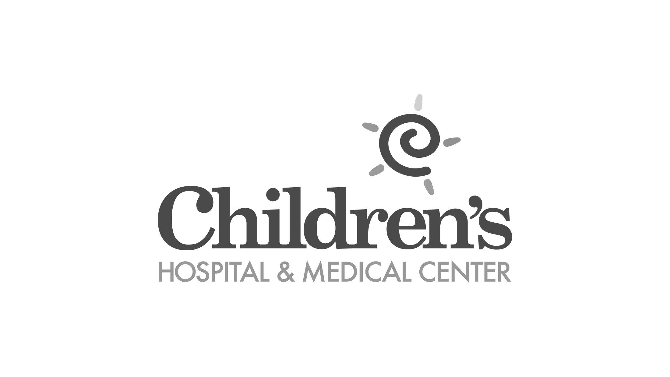 Children's hospital & medical center logo with Sun icon