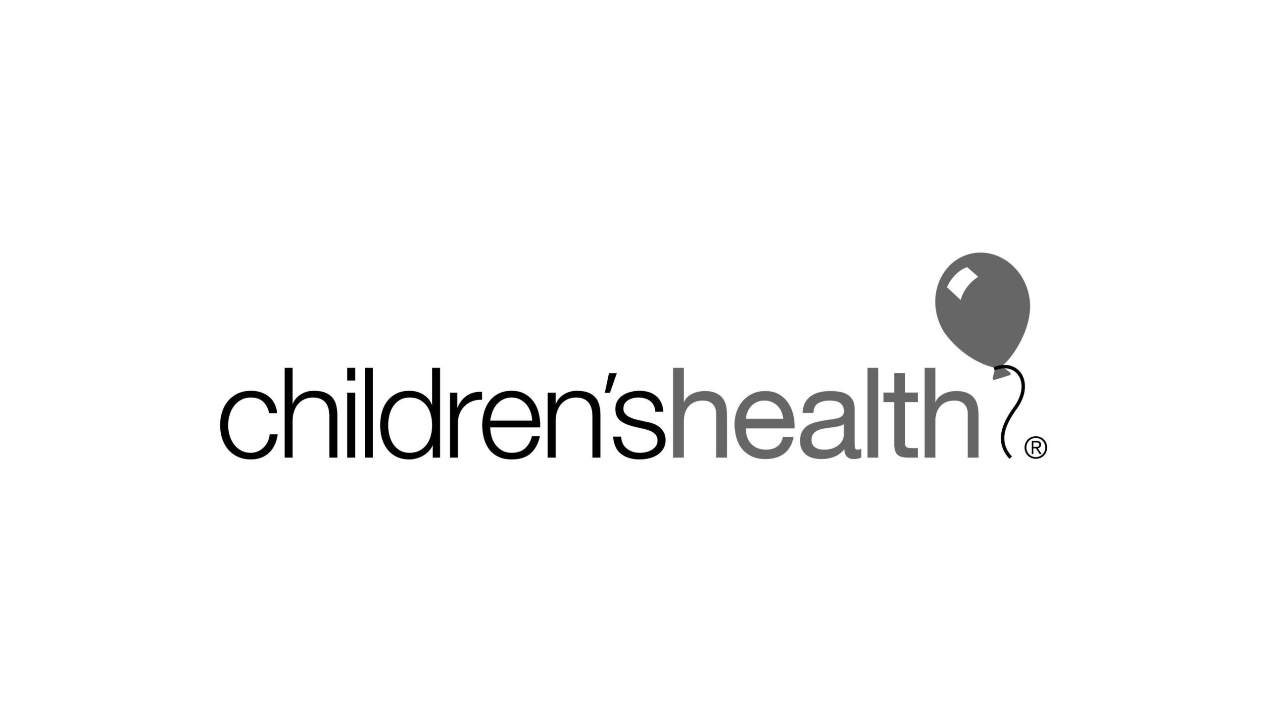Children's health logo with balloon