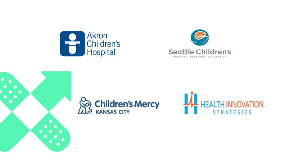 Akron Children's Hospital - Seattle Children's Hospital - Research - Foundation - Children's Mercy Kansas City - Health Innovation Strategies Composite Logo