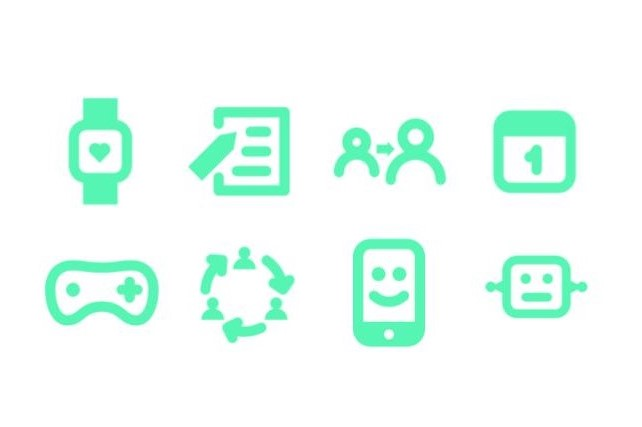 Wish List Icons - green icons
